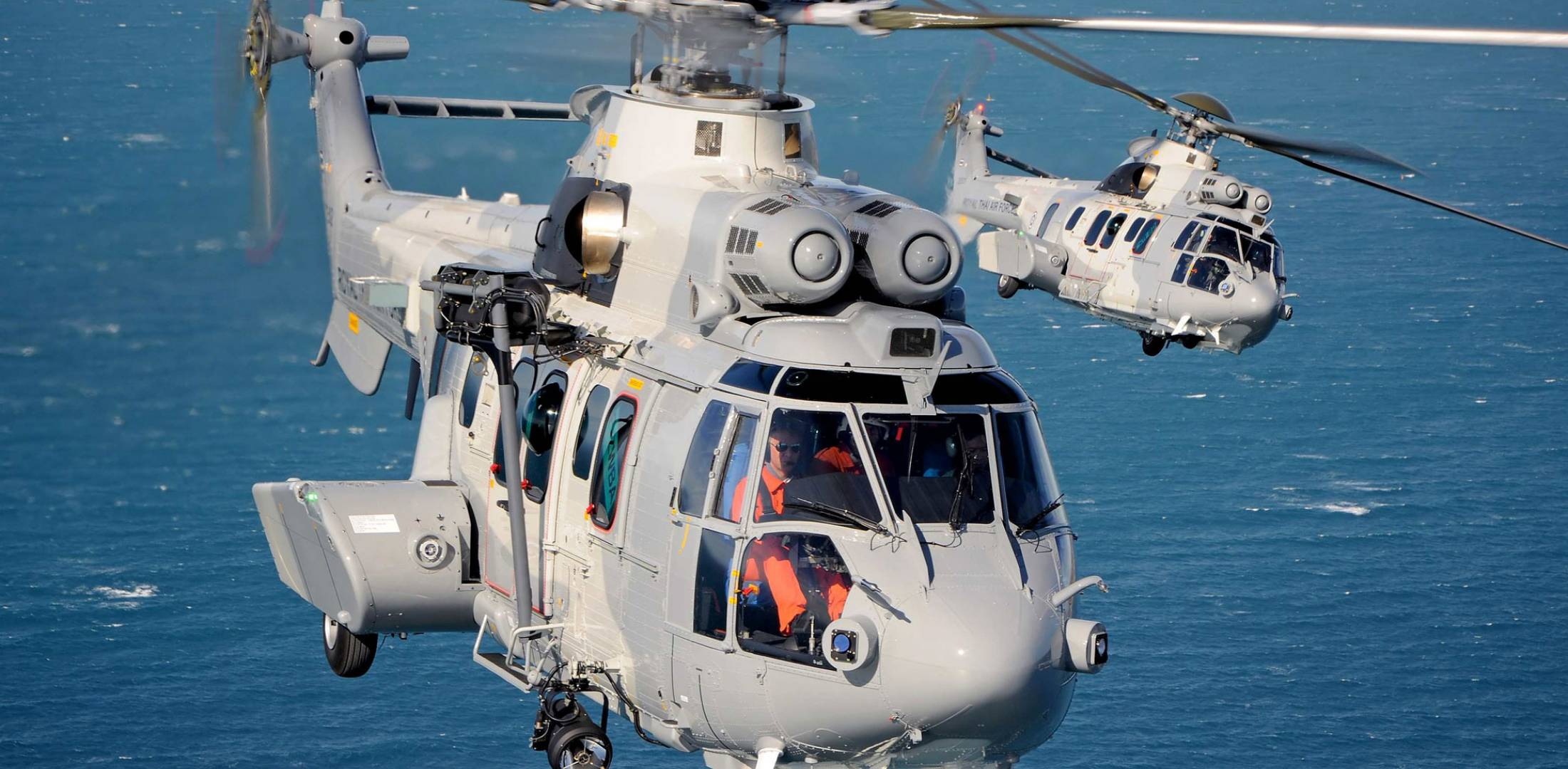 Airbus Helicopters EC725s in flight