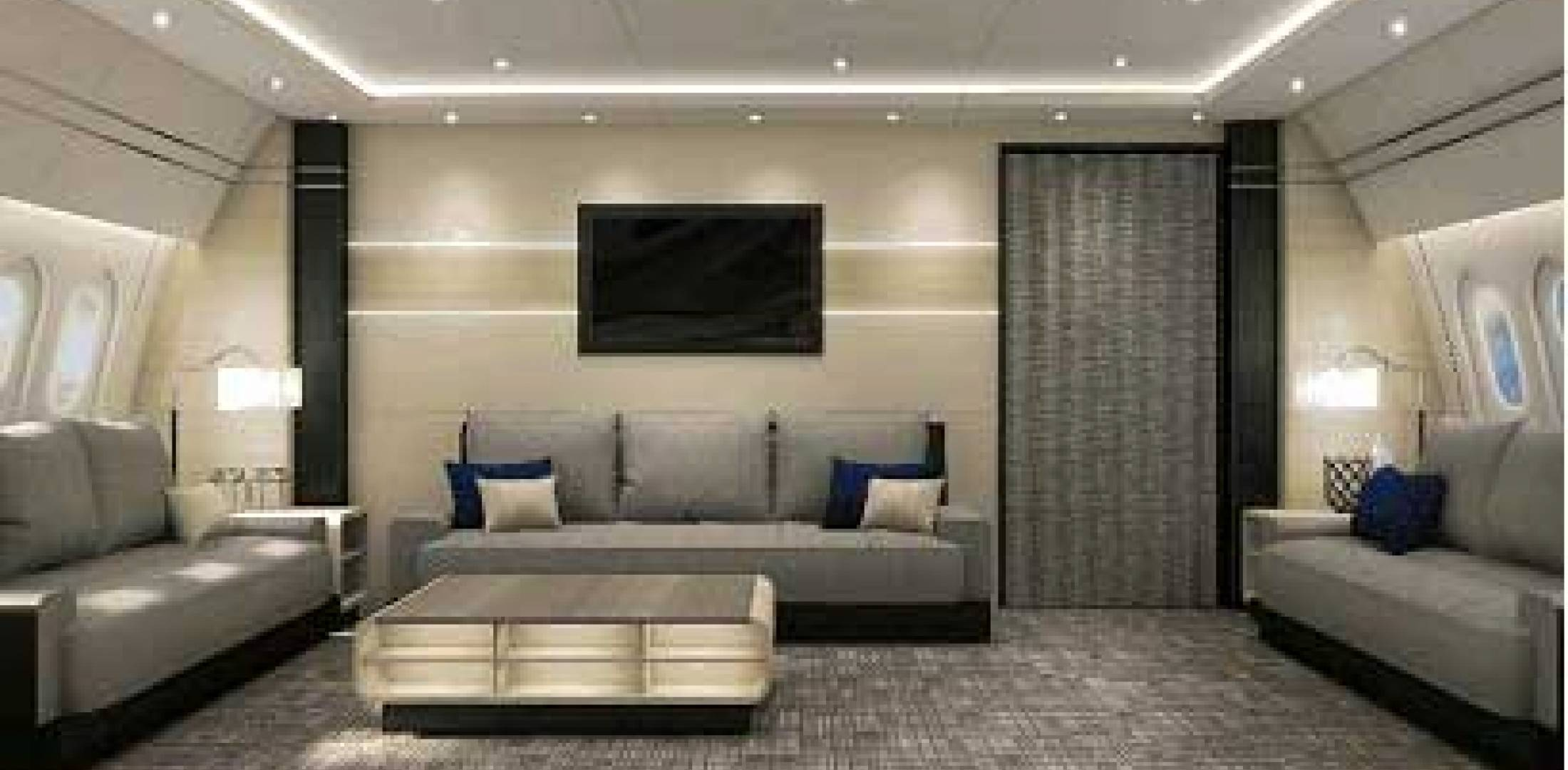 Interior Design Concepts By Greenpoint Contracts For A Pair Of 787 Completions Business