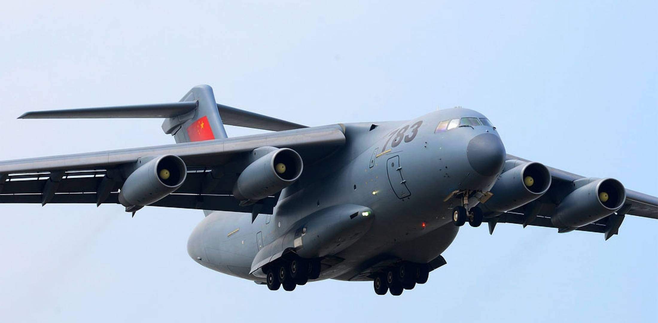 Y-20 in flight