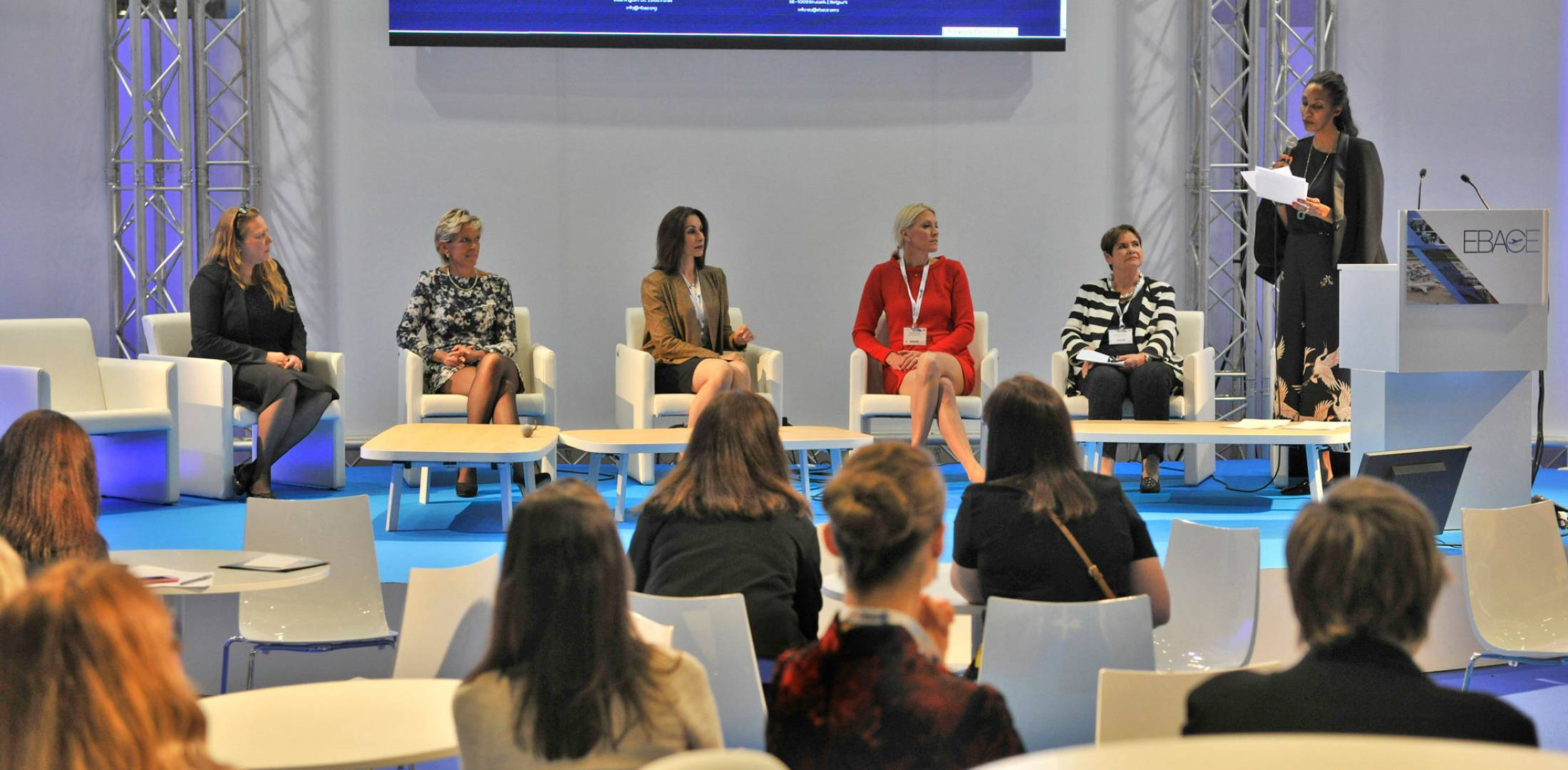 group of women at a conference