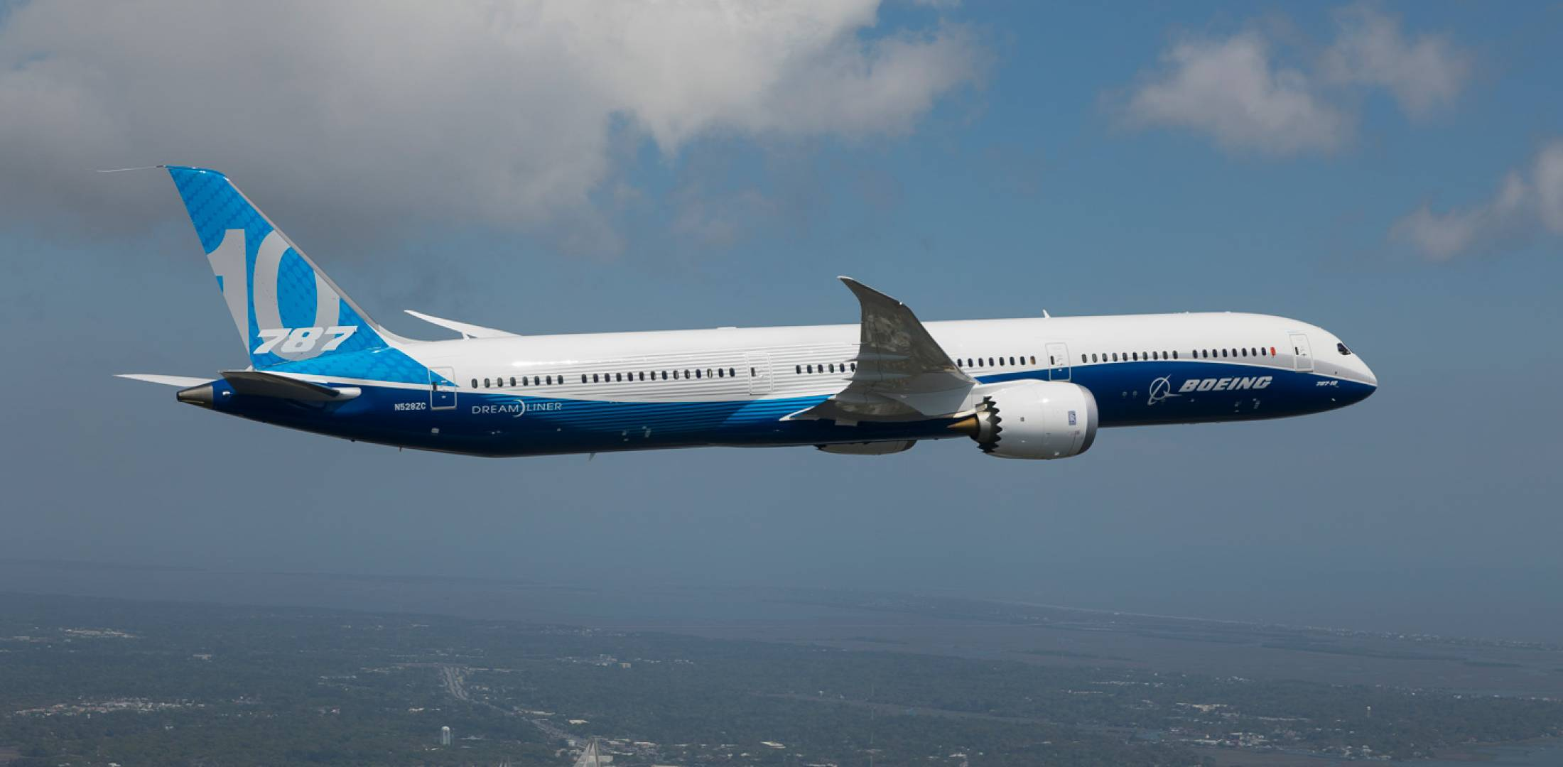 Boeing 787-10 ZC001 flew for the first time on March 31. [Photo: Boeing]