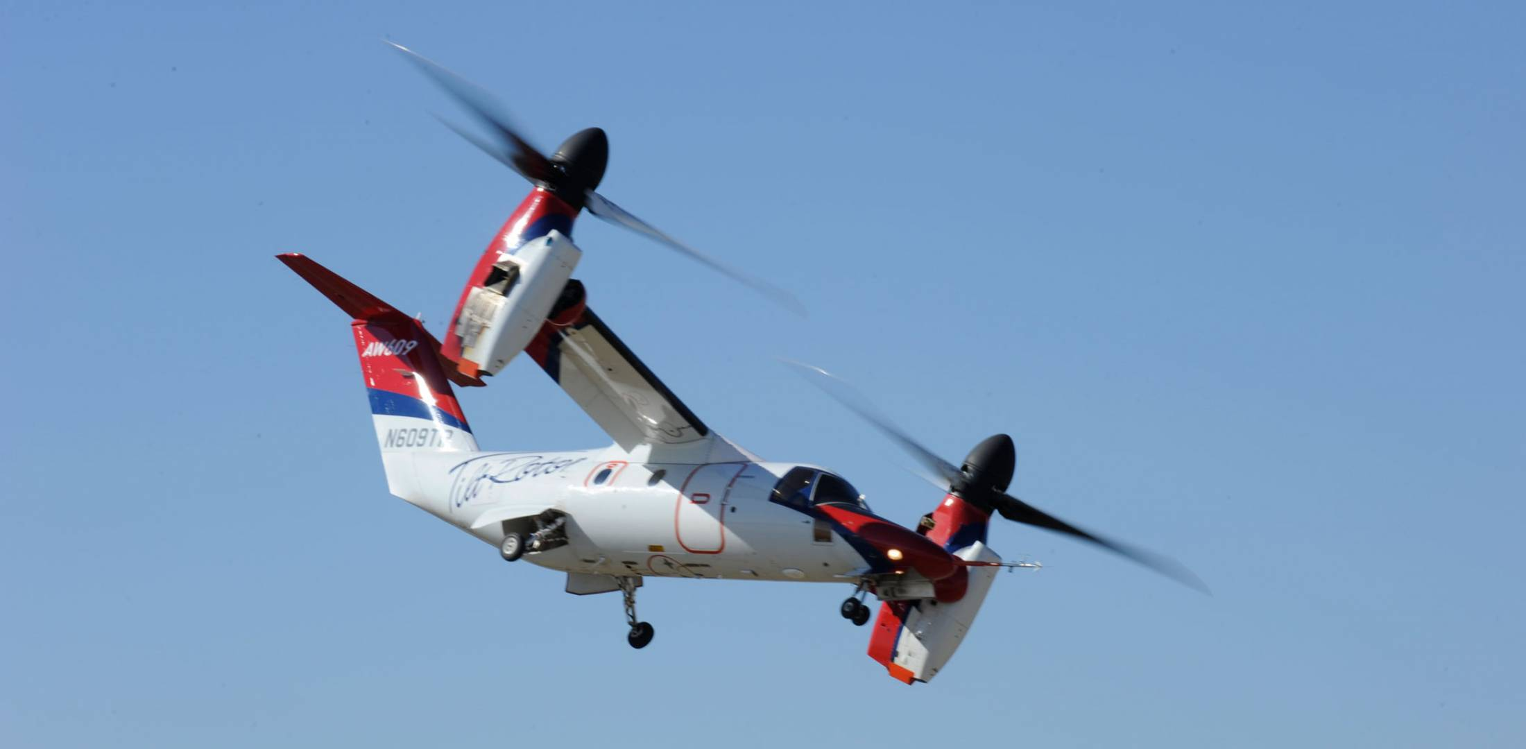 AW609 in flight
