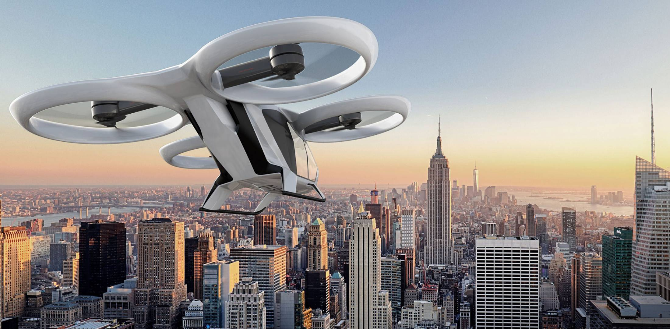 The concept for the four-seat CityAirbus would be for shared passenger operations. Passengers would book an available seat via a smartphone app then take off from the nearest helipad.