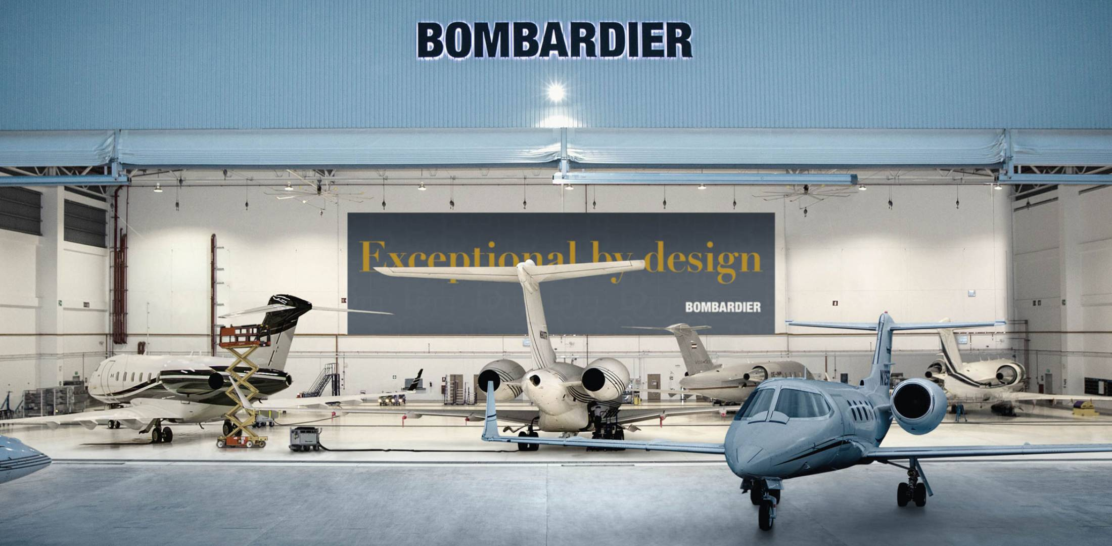 hangar with planes