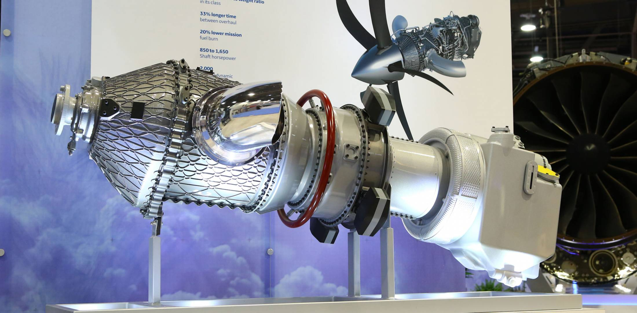 GE's ATP turboprop is close to first engine run. The company's Passport turbofan. PHOTO DAVID McINTOSH