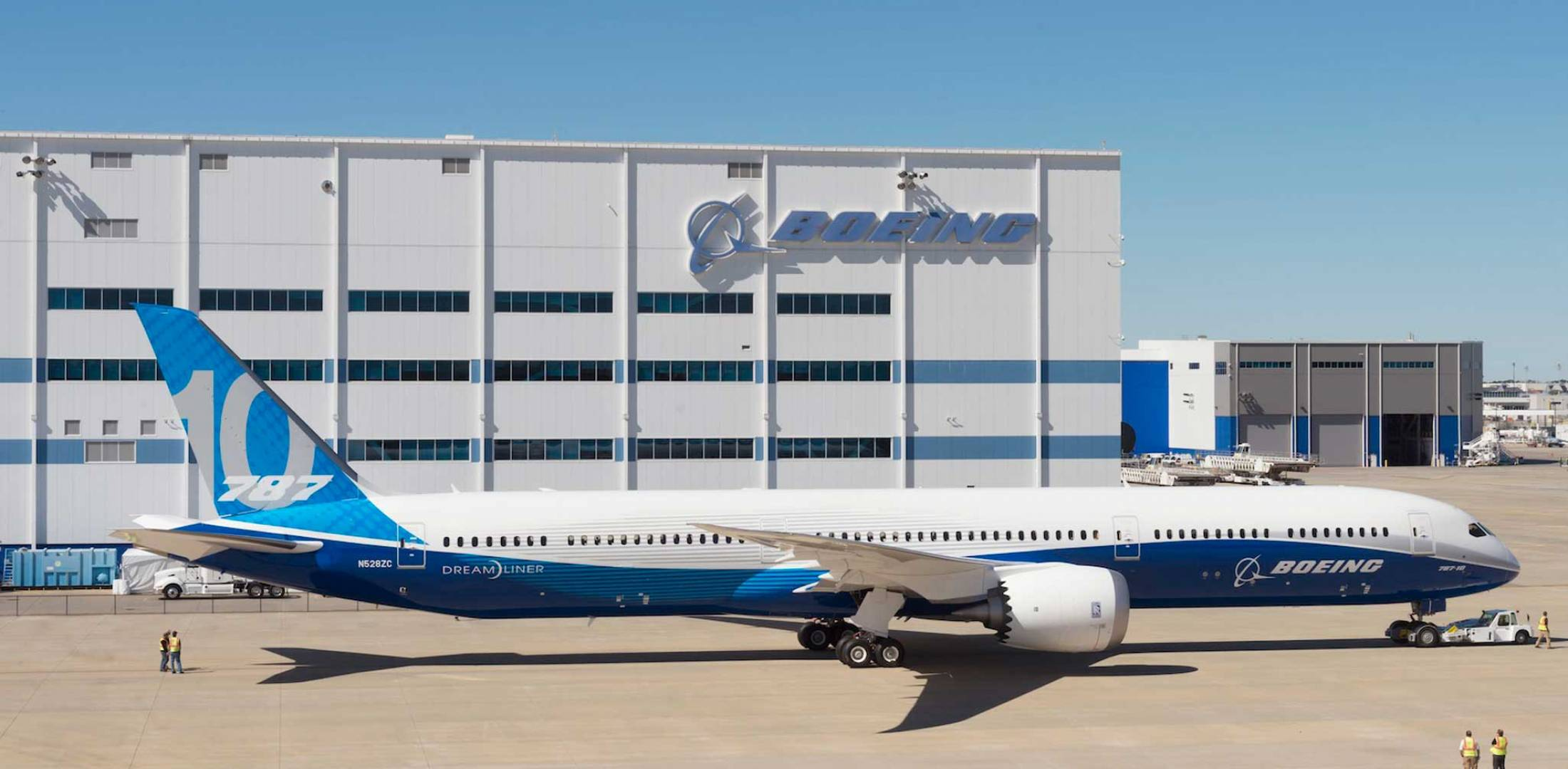 In early October, Boeing rolled out the first 787-10 built for launch  customer Singapore Airlines—dubbed ZC003—as it began series production.