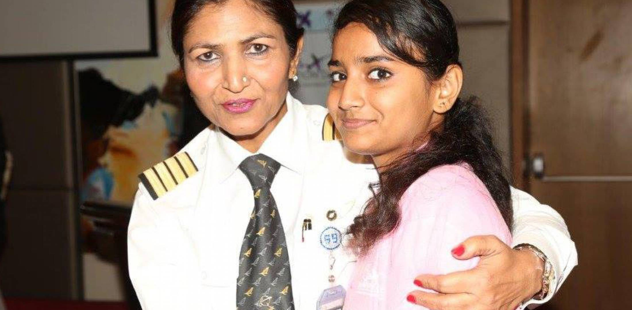 Indian pilot and female student
