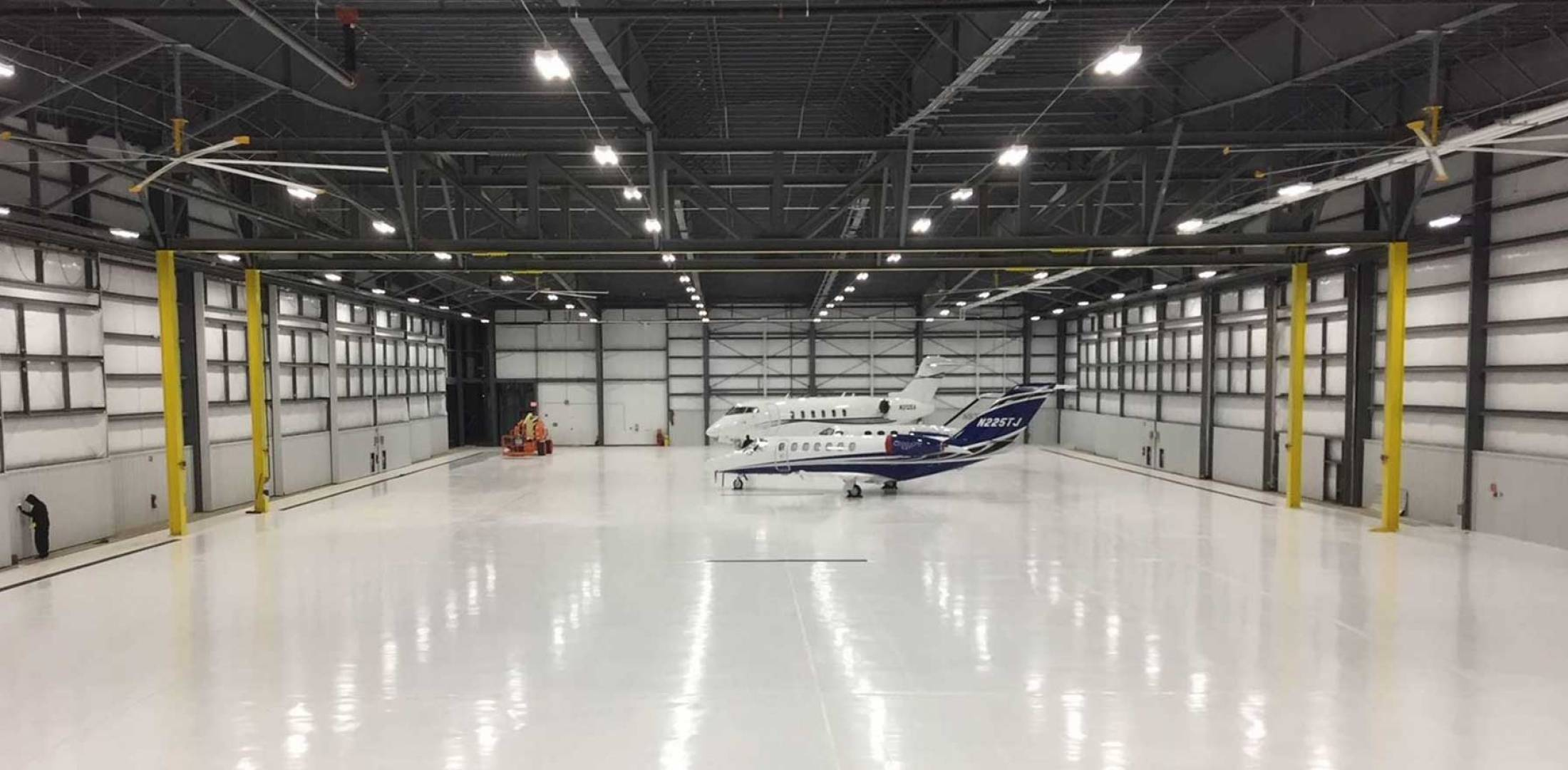 new hangar up and running at million air hpn business aviation news aviation international news. Black Bedroom Furniture Sets. Home Design Ideas