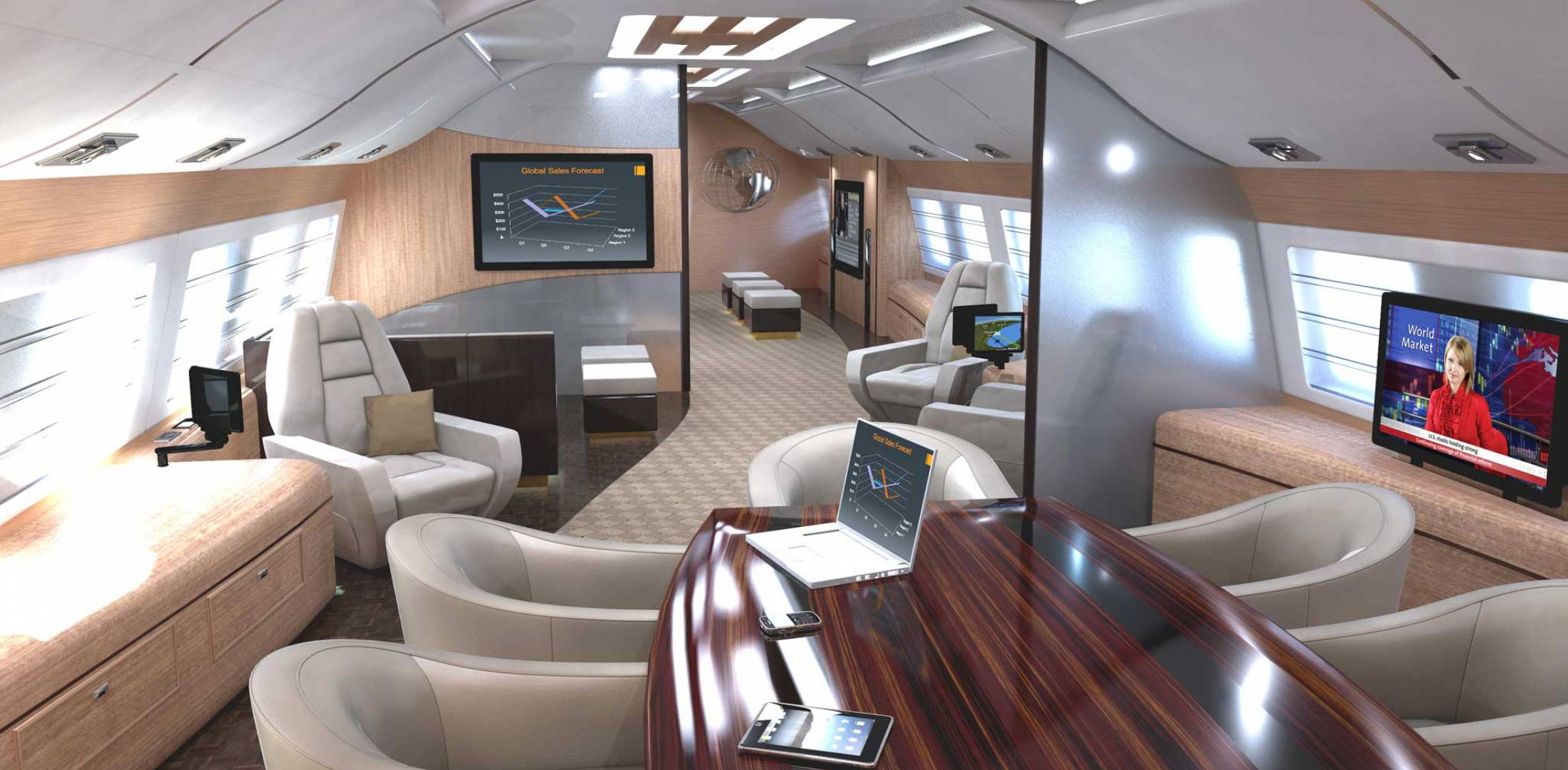 Customized cabin comforts not just for new jets anymore for Large cabin business jets