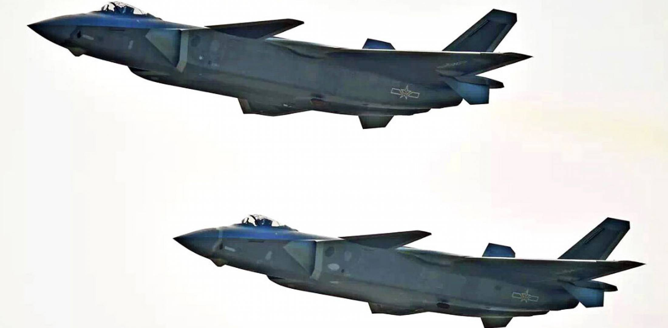 J-20s in flight