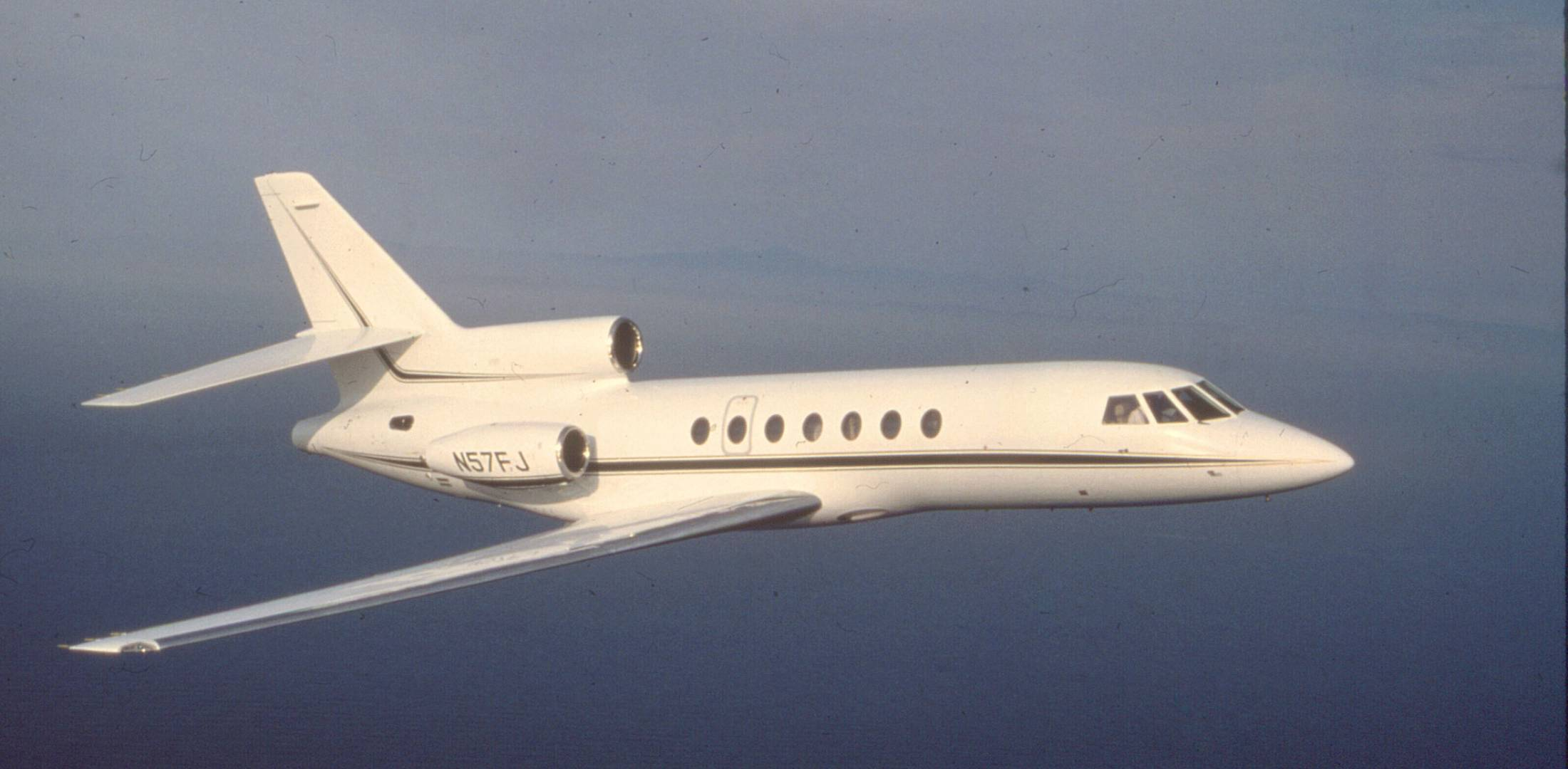Falcon 50 in flight