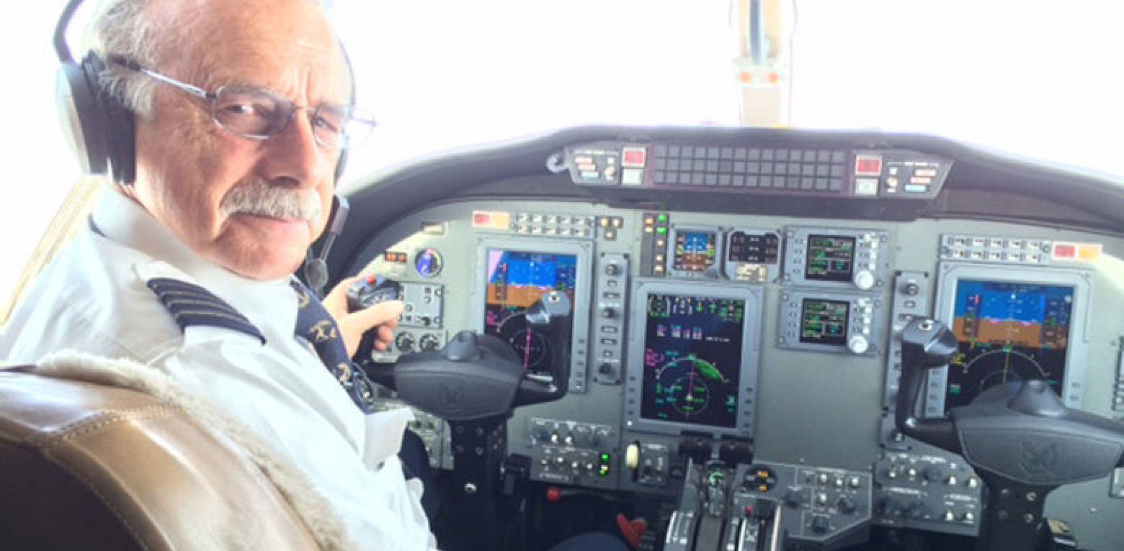 retired NetJets pilot Barton Cole