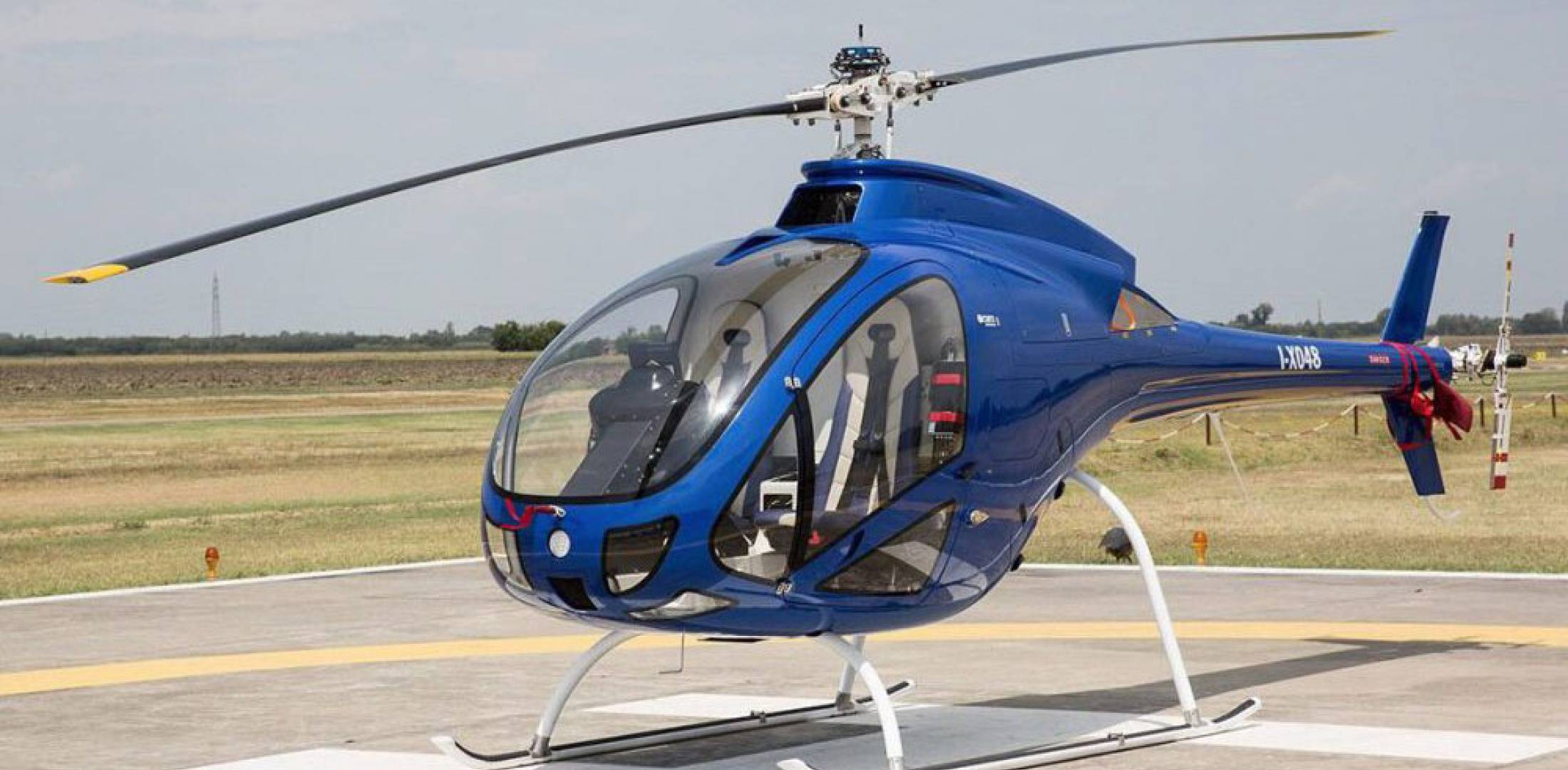 Curti helicopter on ramp