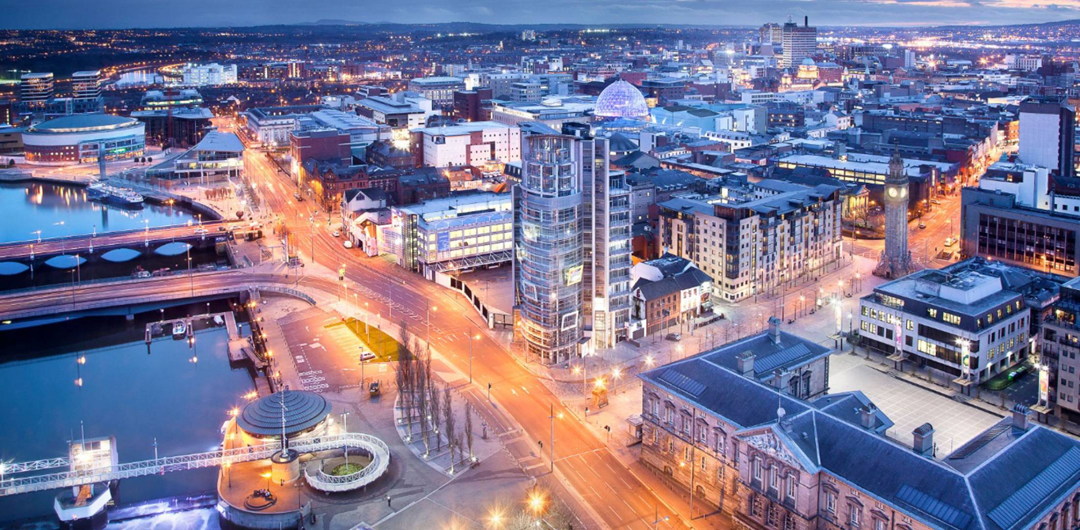 aerial view of Belfast
