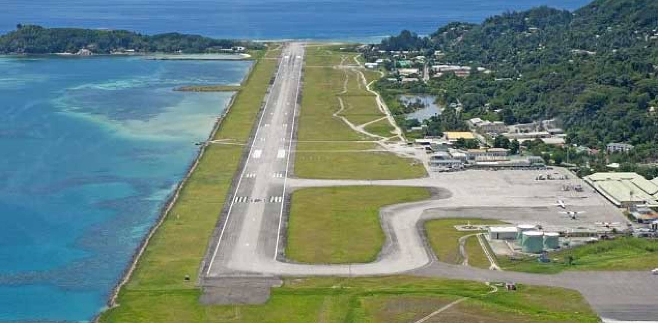 Seychelles International Airport on the island of Mahé
