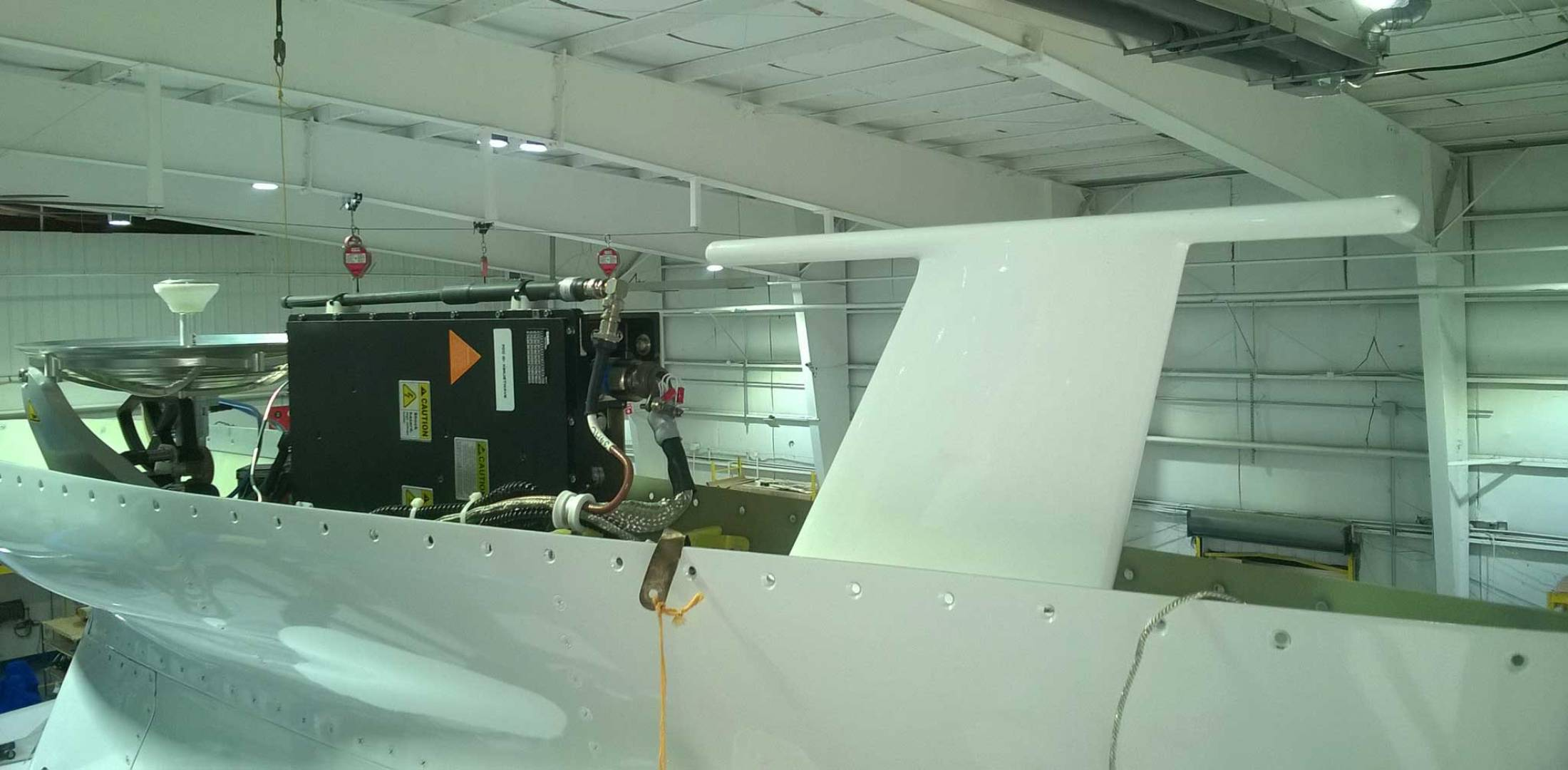 JetWave hardware in place on aircraft