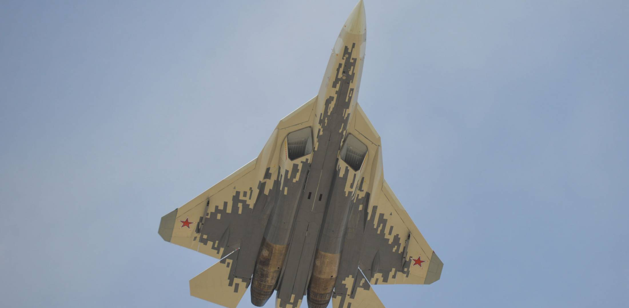 Su-57 in flight