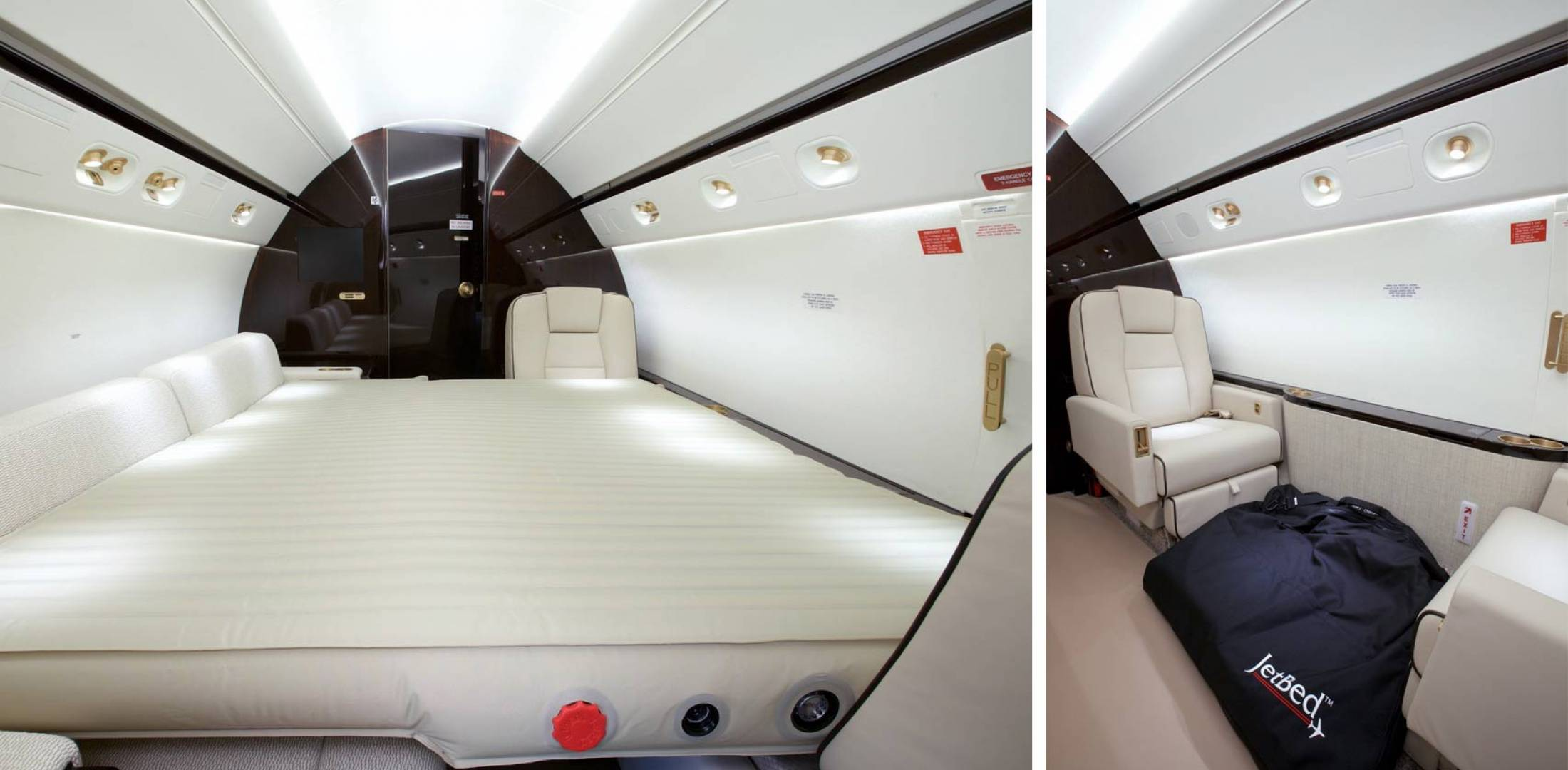 Transforming a light jet cabin into a comfortable sleeping area has gotten a lot more feasible with JetBed's inflatable solution.