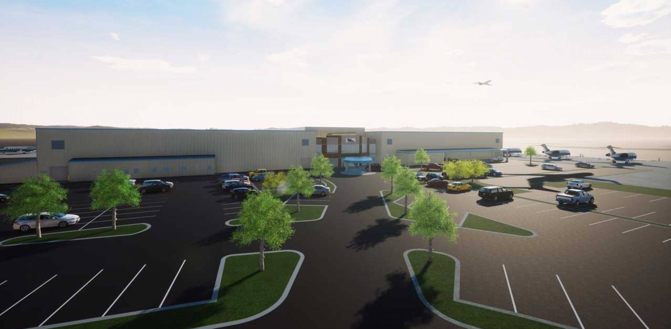 Artist rendering of new Chantilly Air FBO