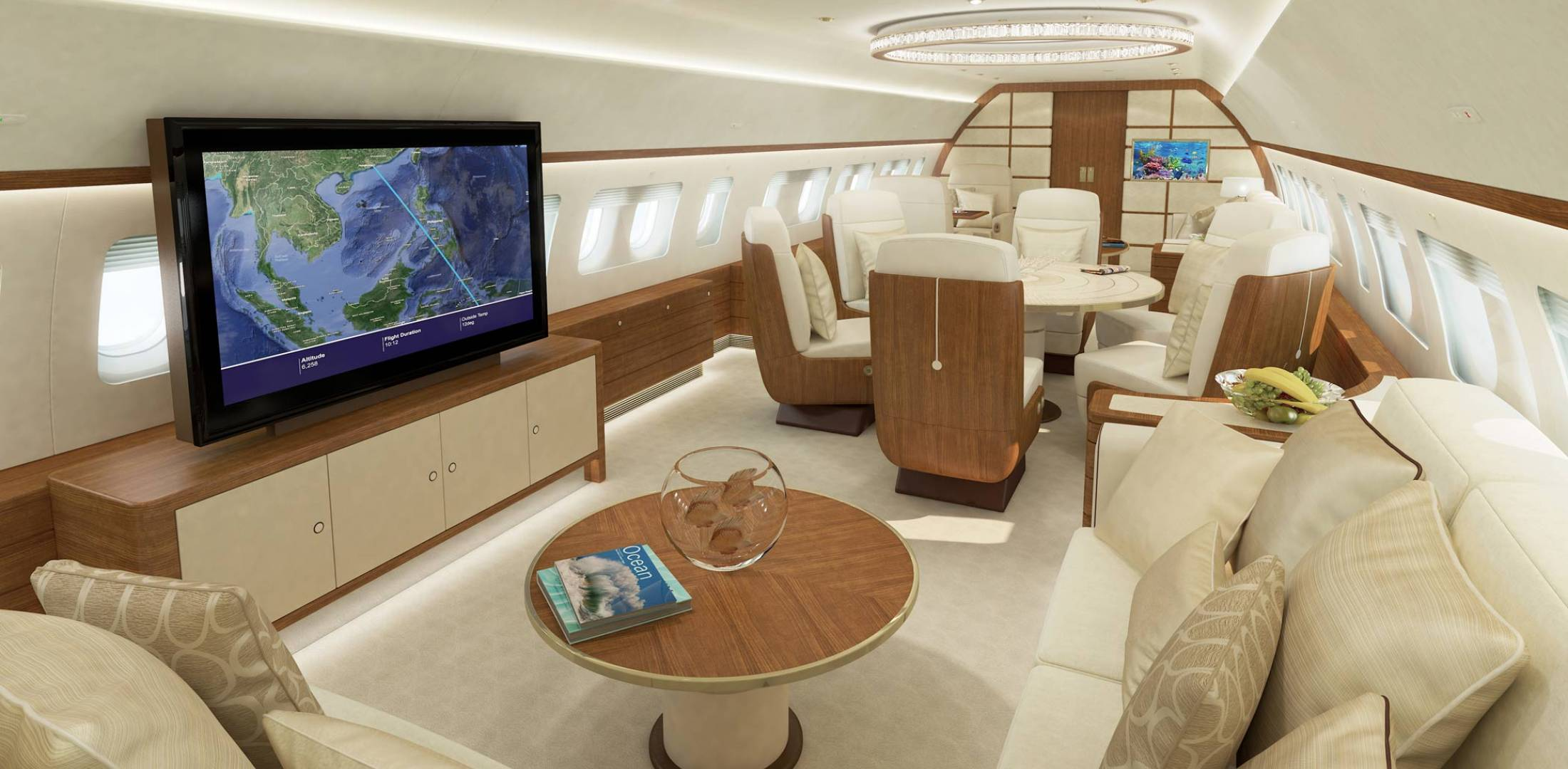 Jet Aviation is keeping up with the latest in business jet cabin tech.
