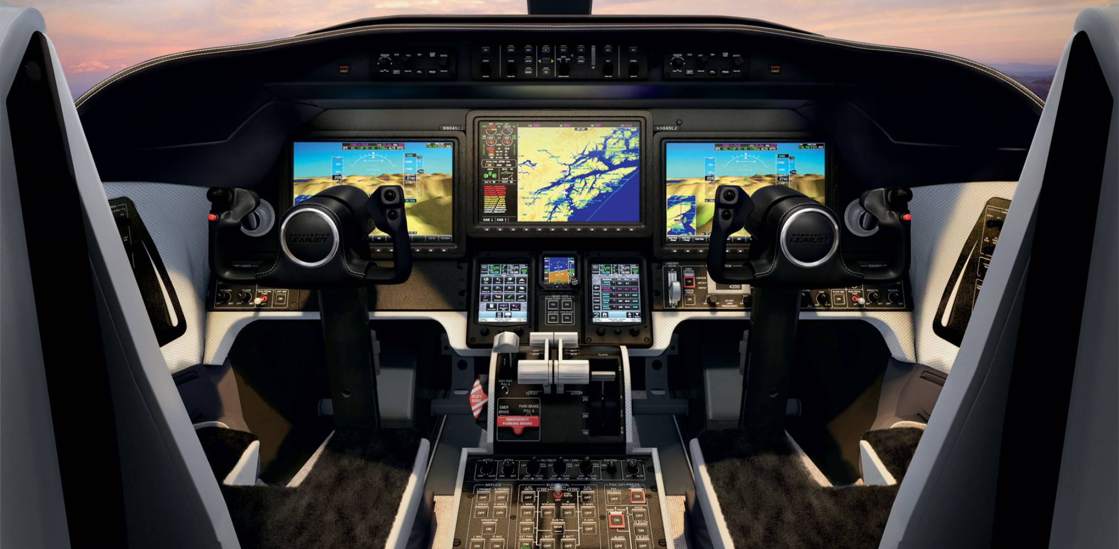 Learjet 70/75 flight deck