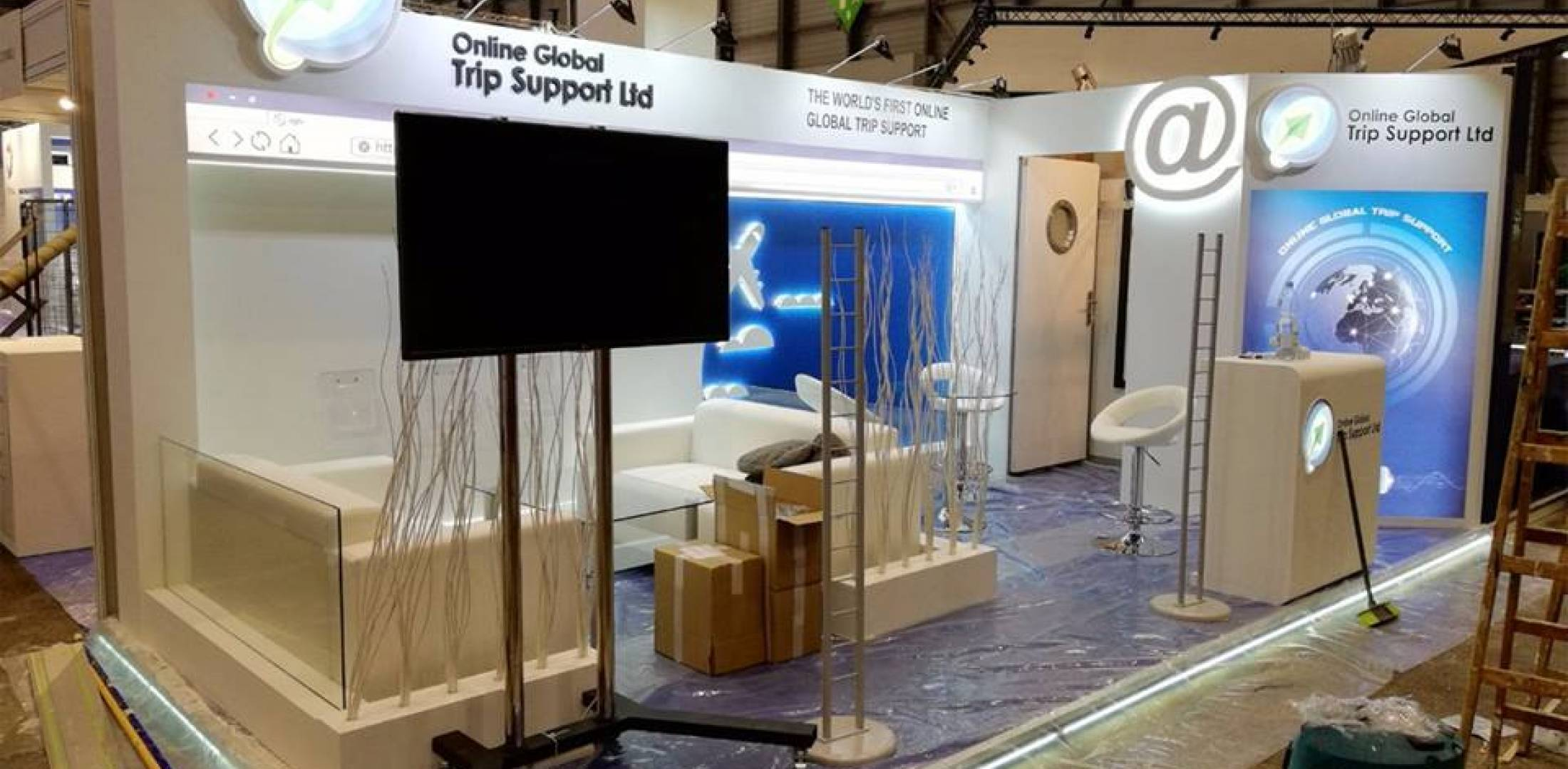 Global Trip Support booth at EBACE 2018