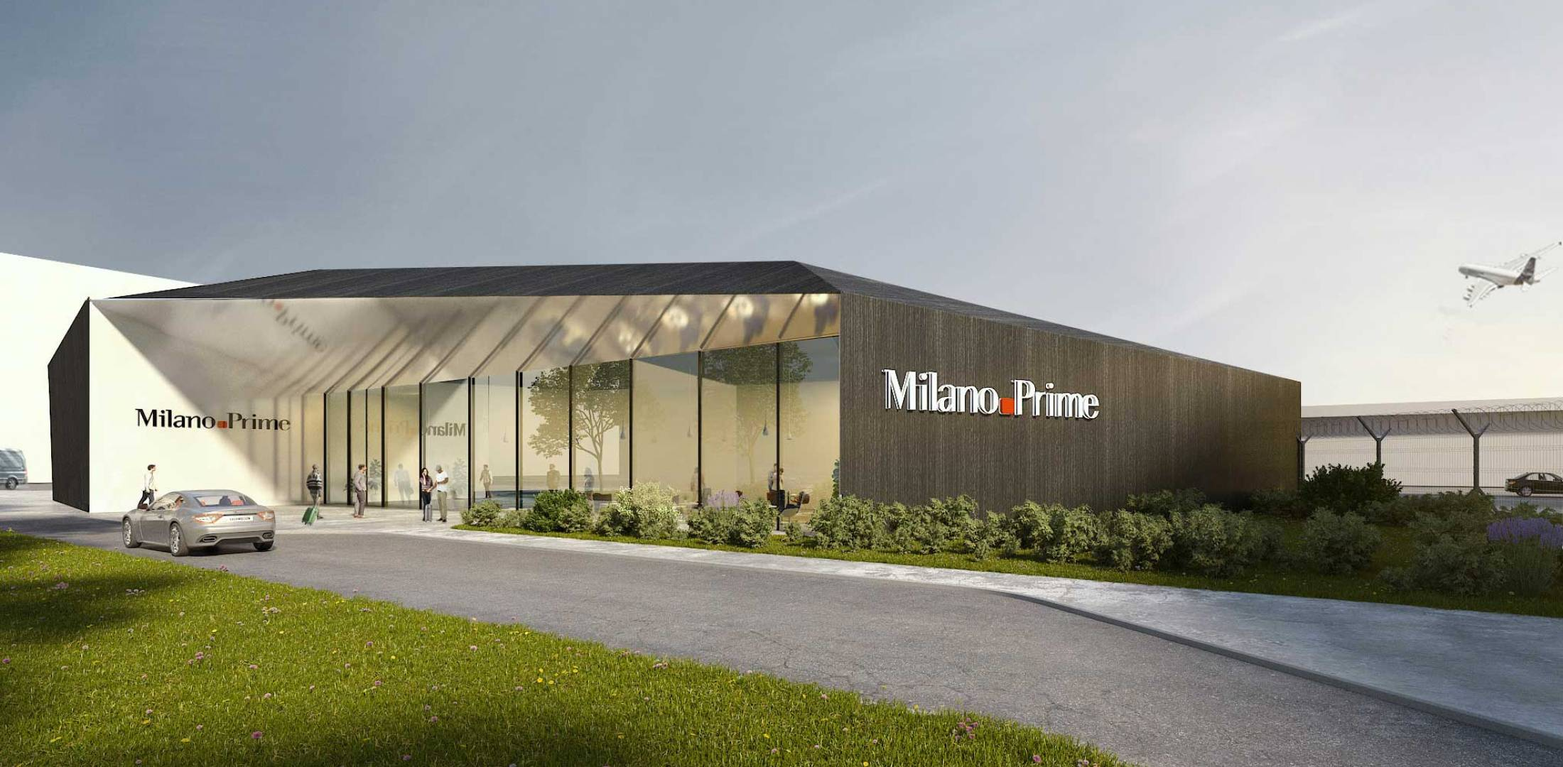Artist rendering of the Milano Prime FBO at Malpensa