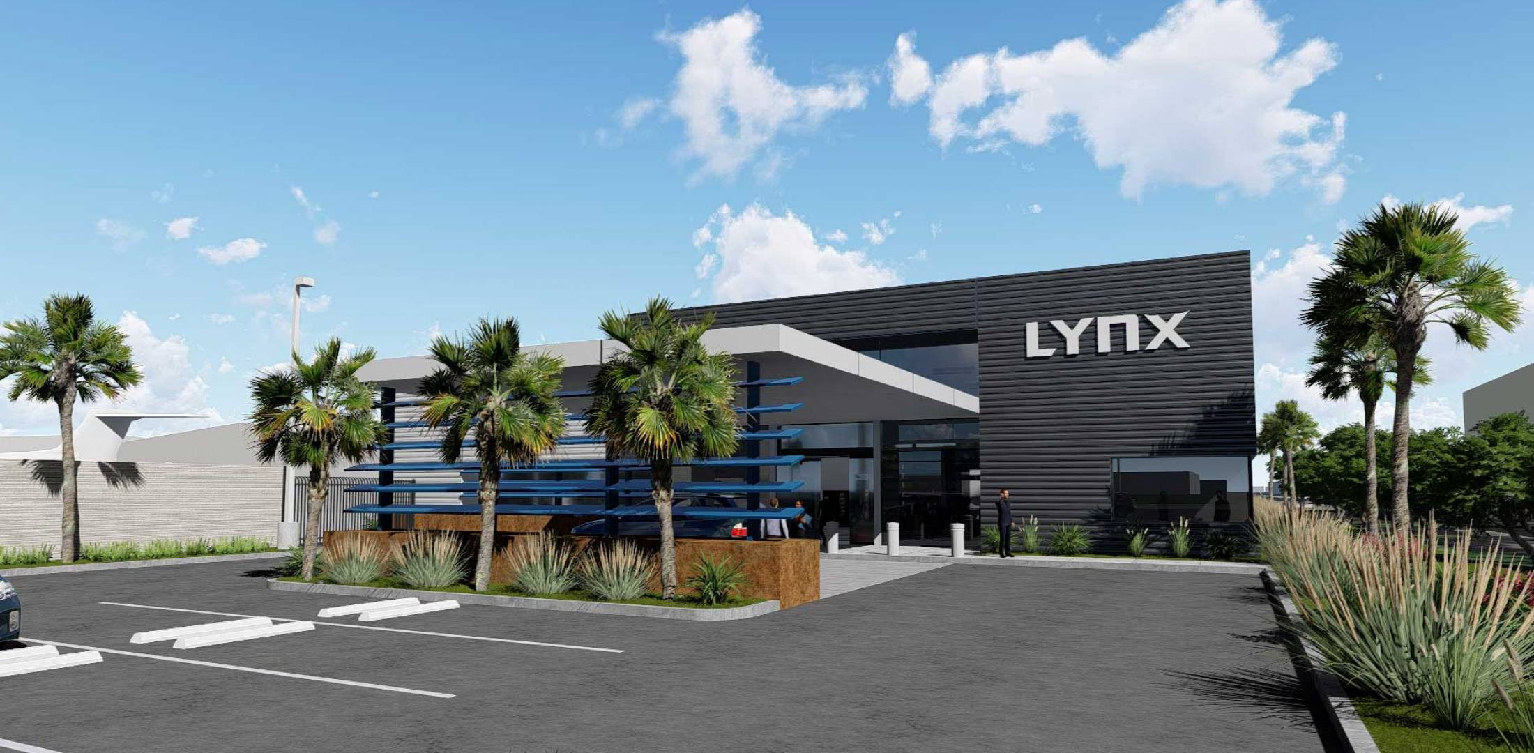 Artist rendering of the new Lynx FBO terminal at FXE