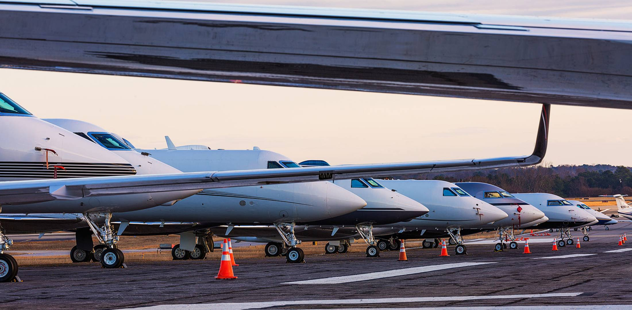 Business jets on the ramp