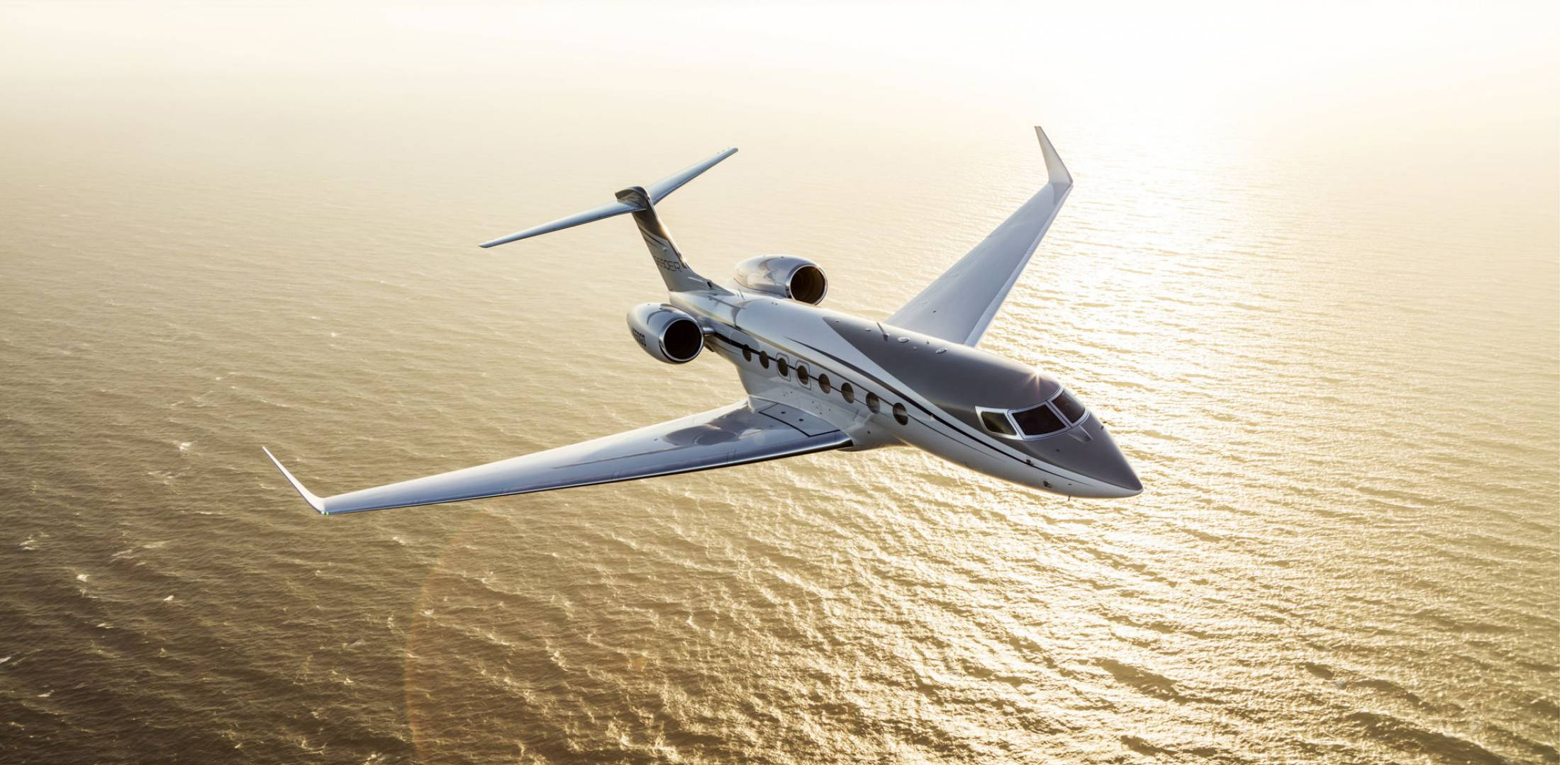 Gulfstream G650 in flight