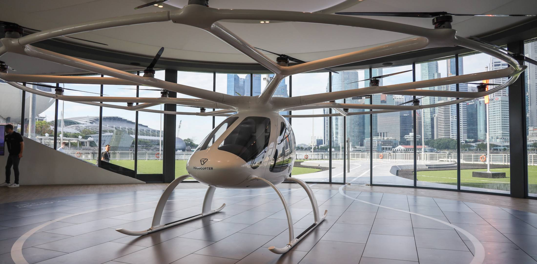 Volocopter 2X eVTOL in VoloPort