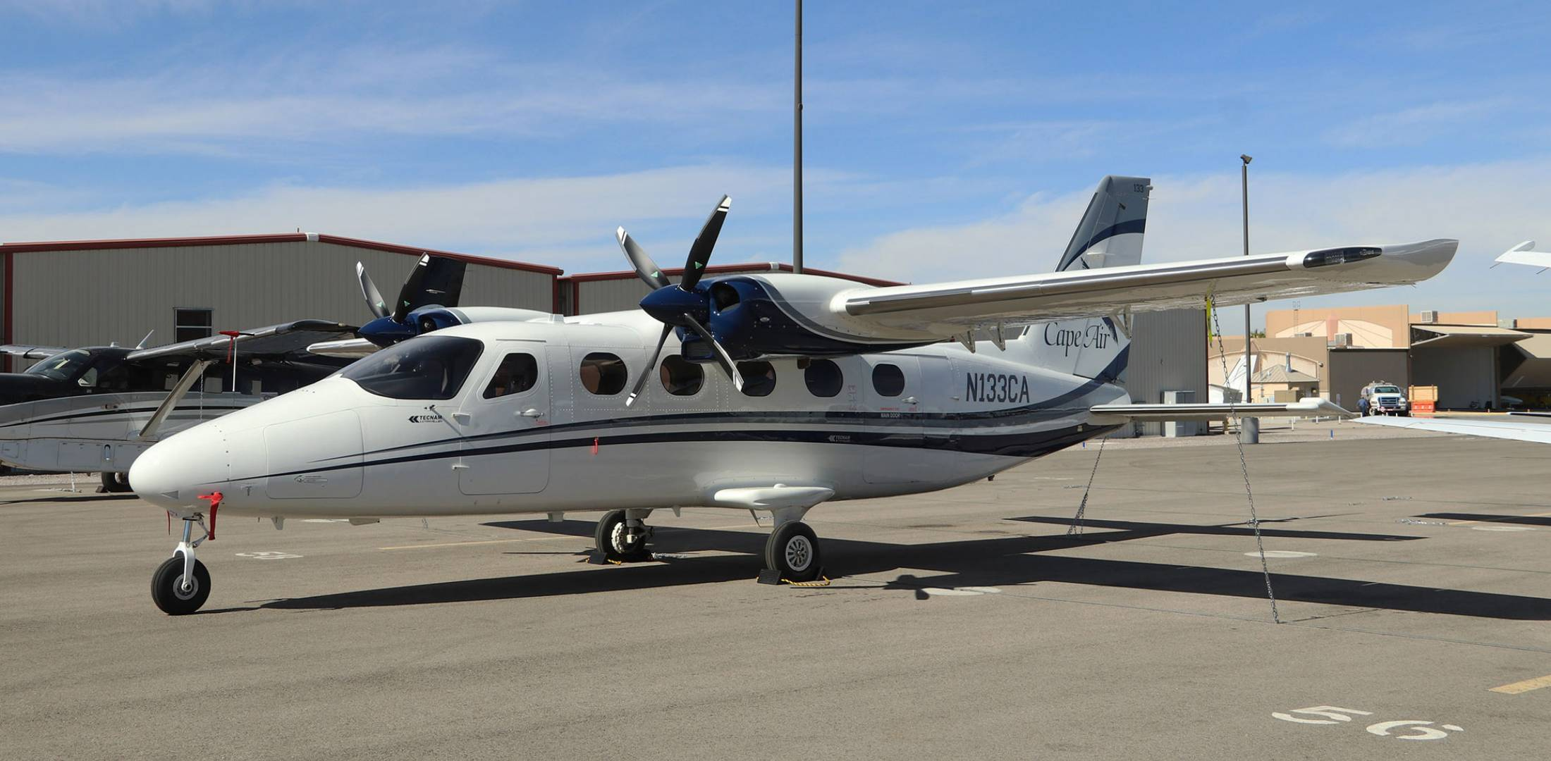 twin-engine P2012 commuter aircraft. Photo: Barry Ambrose