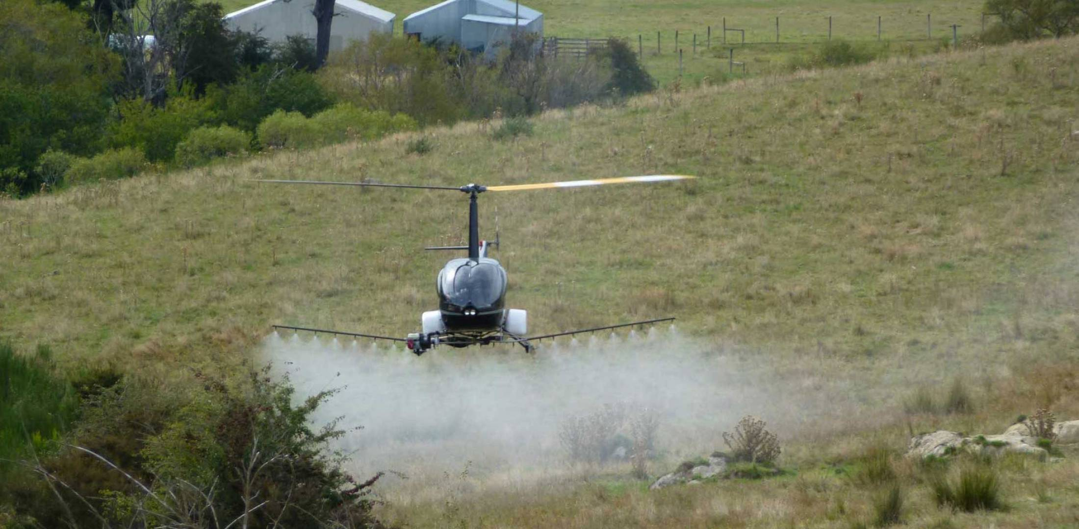 Agro-drone R22-UV in flight