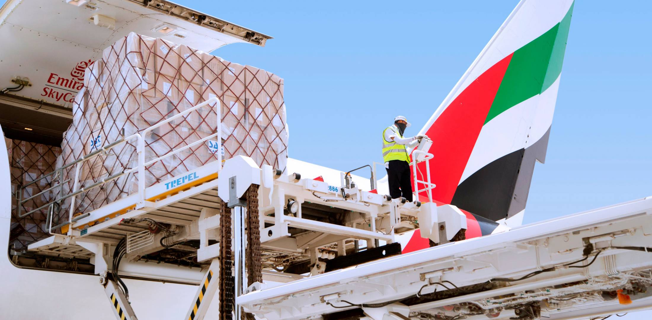 SkyCargo, Emirates's air cargo division, can carry up to 20 tonnes of cargo on passenger aircraft.