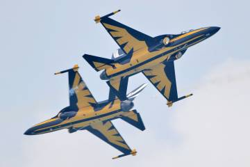 Korea Aerospace Industries T-50B's of the Republic of Korea Air Force's Black Eagles flight demonstration team