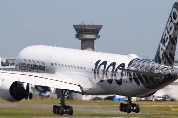 Airbus 350 taking off
