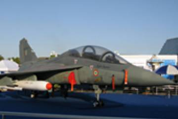 India's indigenous light combat aircraft flew at this month's Aero India show...