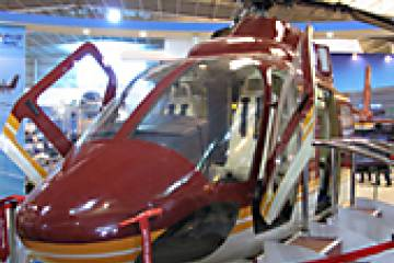HAL brought a mockup of its light utility helicopter to Aero India....