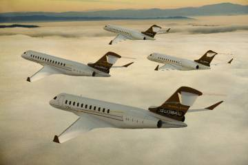 Bombardier expanded its Global aircraft family to four aircraft here at NBAA ...