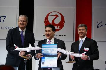 JAL 787 signing ceremony