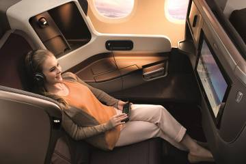 woman in airplane chair