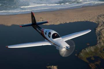 Lancair Evolution in flight