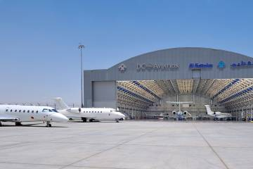 A joint venture between DC Aviation and local business conglomerate Al Futtaim, DCAF is well into plans to add a second hangar, scheduled to join this one around mid-year 2017 at its DWC airport location in Dubai.
