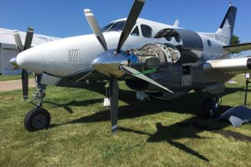 King Air C90A on static