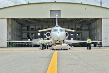 EAN Aviation's hangar at Nigeria's Murtala Muhammed International Airport