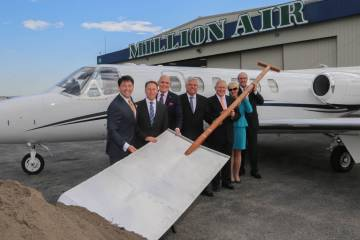 Groundbreaking at Million Air's new HPN facility