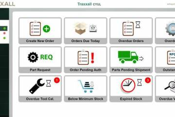Traxxall's new parts inventory software