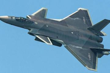 J-20 fighter in flight
