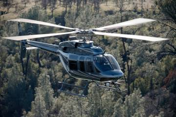 Bell 407 with Donaldson inlet barrier filter