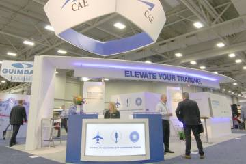 TheCAE Booth at Heli-Expo. photo Mariano Rosales